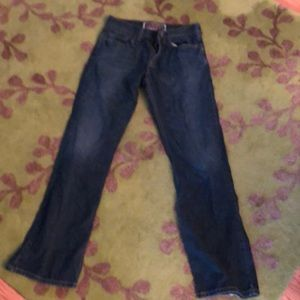 Levi's 527 dark blue w/ fade boot cut jeans